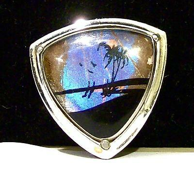 Vintage BUTTERFLY WING BOLO TIE SLIDER-ESTATE