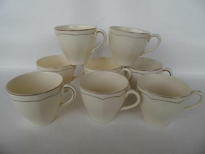 Set 8 X Vintage Alfred Meakin Royal Marigold Tea Cups Cream & Gold