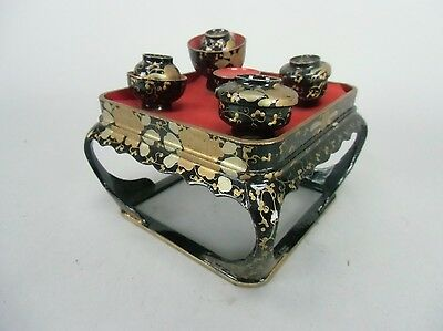 ID25 Japanese Hina Doll Miniature Furniture Accessory Vintage Dinner tray Bowl