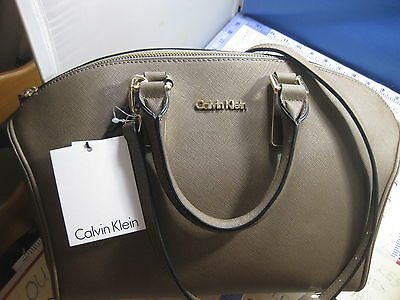 f2fcb5ac2ef Brand New Calvin Klein Scarlett Saffiano Leather City Dome Satchel Bag