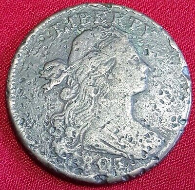 1803 VF-XF U.S. Large Cent Old Antique US Vintage Currency Nice Penny