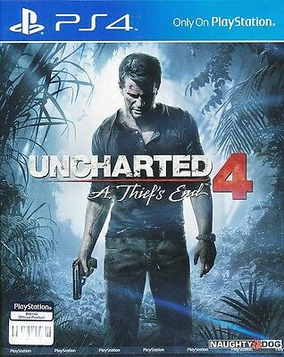 Uncharted 4 A Thiefs End (English/Chinese) PS4 Game Brand New Sealed