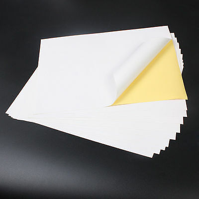 100x A4 White MATT Self Adhesive Inkjet Laser Printing Address Sticker Paper NEW