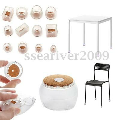 4pcs Silicon Chair Table Leg End Caps Anti-slip Protector Furniture Foot Covers