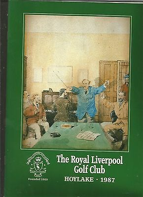 The Royal Liverpool Golf Club 1987 Vernon Sangster Trophy Programme