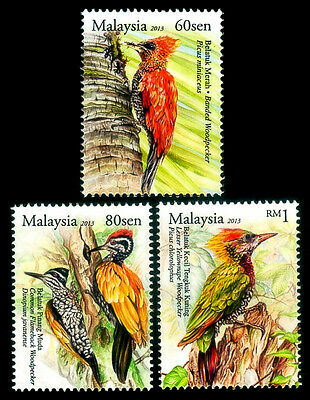 WOODPECKERS OF MALAYSIA Bird Wildlife 2013 MNH Stamps