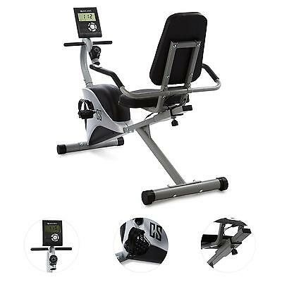 Capital Sports Ergometer Heimtrainer Fitness Bike Computer Puls-Messer Grau