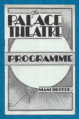 1940 Programme Malcolm Sargent Conducting Lpo Palace Theatre Manchester Wwii