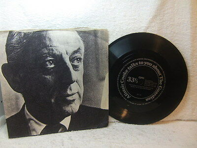 Alistair Cooke Talks To You About The Guardian 1970s Flexi Disc in picture cover