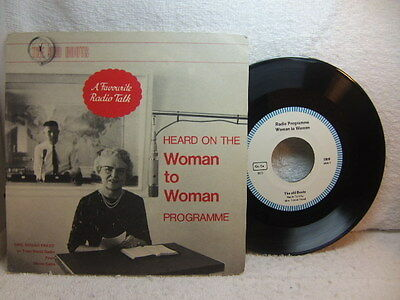 """Mrs Norah Freed – The Old Boots religious talk 1960s 7"""" Trans World Radio 5009"""