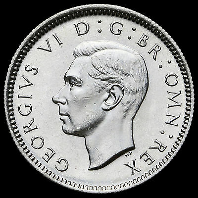 1946 George VI Silver Sixpence – A/UNC