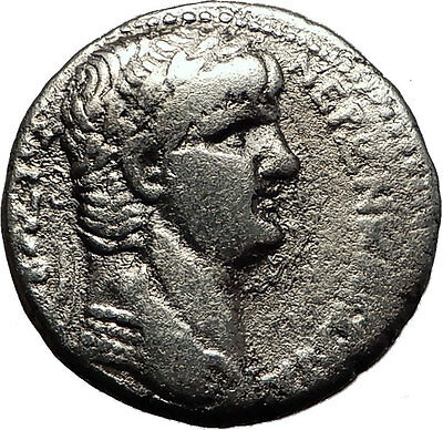 NERO 62AD Antioch Tetradrachm Large Ancient Silver Roman Coin Eagle i58309