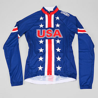Skins Team USA 2012 Olympic Long Sleeve Road Cycling Jersey SMALL America