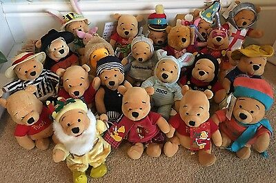 Disney Store Winnie the Pooh Beanies Bundle - 21 in total - Mostly with tags