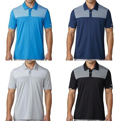 Adidas Golf 2017 Climachill Heather Block Competition Polo Shirt