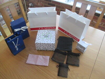 Selection of jewellery/gift bags,boxes,pouches-Swarovski,Clarins,Next, 50 years