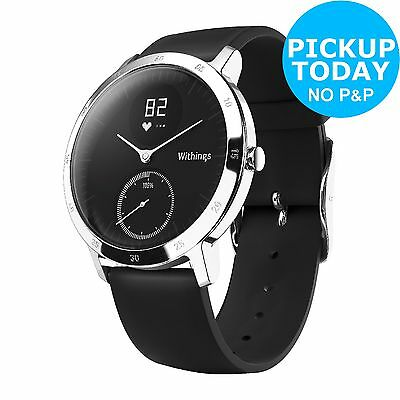 Withings Activite Steel Black Activity Tracker - Large. The Official Argos Store