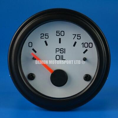 52mm White Face Gauge Only (Pick Your Gauge) Oil Water Volt Fuel