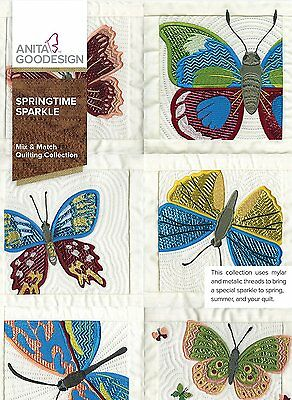 Anita Goodesign Mix & Match Quilting SPRINGTIME SPARKLE  279AGHD~ NEW SEALED