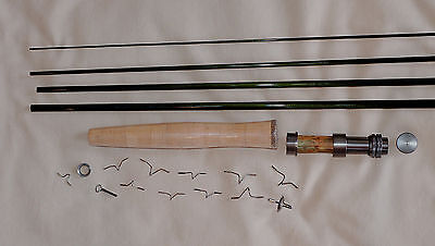 IM6, 4 PC, 5 WT, 9 FT FLY ROD KIT, 1 TIP, TRANSLUCENT GREEN, by Roger