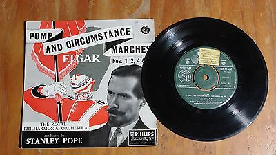 "'Pomp and Circumstance Marches' STANLEY POPE 7"" vinyl EP Philips NBE 11002"
