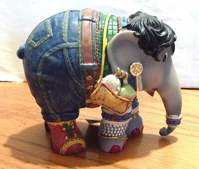 Westland Elephant Parade Shopping Queen 2013 Figurine #1315 Window Tin Box New