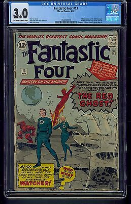 Fantastic Four #13 (1963) CGC Graded 3.0 ~ Watcher ~ Stan Lee ~ Jack Kirby (C1)