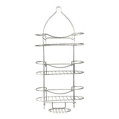 MLM Home Products Large Metal 3 Tier Shower Organizer Caddy with Soap Rack