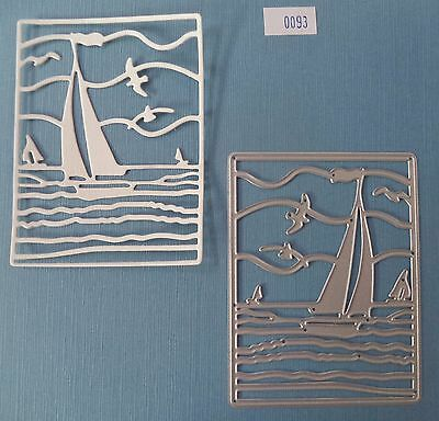 Sailing Front  Die   #093  *new*  Card Making Scrapbooking