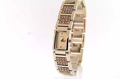 Ladies DKNY NY4441 Crystal Accented Band  Gold-Tone Dial Stainless Steel Watch