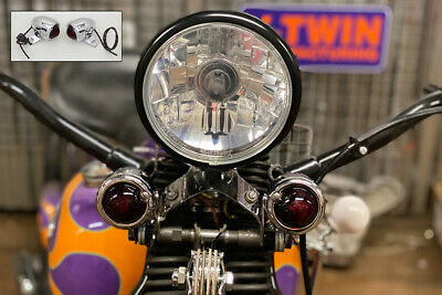 Replica Guide Bullet Turn Signal Set Front,for Harley Davidson motorcycles,by...