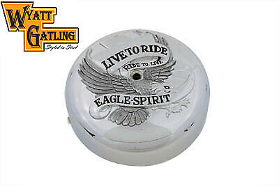 Wyatt Gatling 7  Live to Ride Air Cleaner Cover Chrome,for Harley Davidson,by...