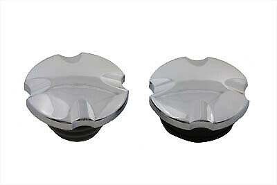 Maltese Cross Vented and Non-Vented Gas Cap Set fits Harley Davidson,V-Twin 3...