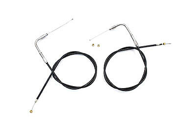"""34.84"""" Black Throttle and Idle Cable Set fits Harley Davidson,V-Twin 36-0858"""