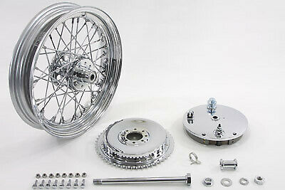 "16"" Wheel and Brake Drum Assembly Chrome fits Harley Davidson,V-Twin 52-1052"