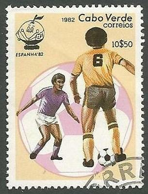 Cape Verde Scott# 449, 1982 World Cup, Soccer Players & Ball, Unused CTO, 1982