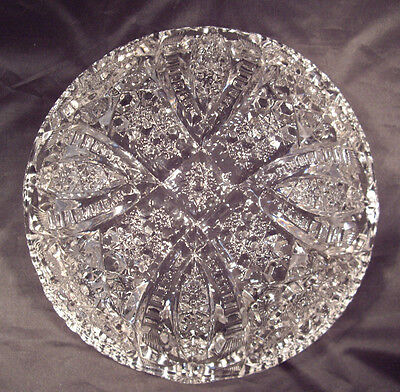"EAPG 9-1/2""  Round bowl in  ""Fentec "" pattern by McKee Glass Co. made in 1904"