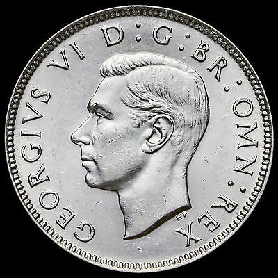 1945 George VI Silver Two Shilling Coin / Florin – A/UNC #2