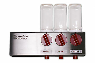Aromacup Coffee, Sugar & Chocolate Dispenser 3 Ingredients