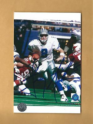 Troy Aikman Dallas Cowboys Autographed Photo With Certificate Of Authenticity