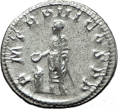 GORDIAN III 240AD Rome Authentic Original Ancient Silver Roman Coin Altar i59043