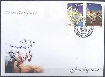 Kosovo 2012 Fdc Myths And Legends Very Fine