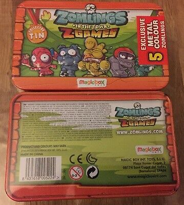 ZOMLINGS IN THE BIG TOWN SERIES 5 -1 x SEALED Z GAMES TIN WITH 5 EXCLUSIVE ZOMLI