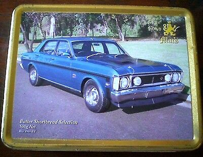 Mac's Ford Blue 1969 Gt Collectable Biscuit Tin
