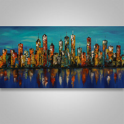 Large Abstract Painting Art Original Modern Wall Art home decor #156 cityscape
