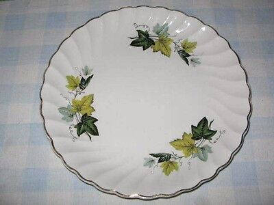Grape Leaves 23cm Wide Plate Ironstone Ware by Myott England Gold Rim