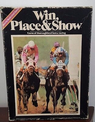 1977 Avalon Sports Illustrated Win Place & Show Thoroughbred Horse Racing Game