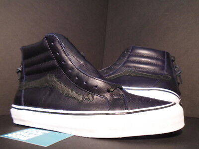 255ce280f1 Vans Sk8-Hi Reissue Zip Lx Blends Design Peacoat Blue Navy Bones White  Black New