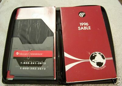 **NEW**1996 Mercury Sable Owners Manual Set Case 96