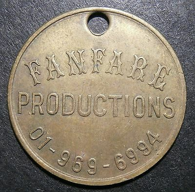 Works check / advertising medalet - Fanfare Productions of London - 26mm